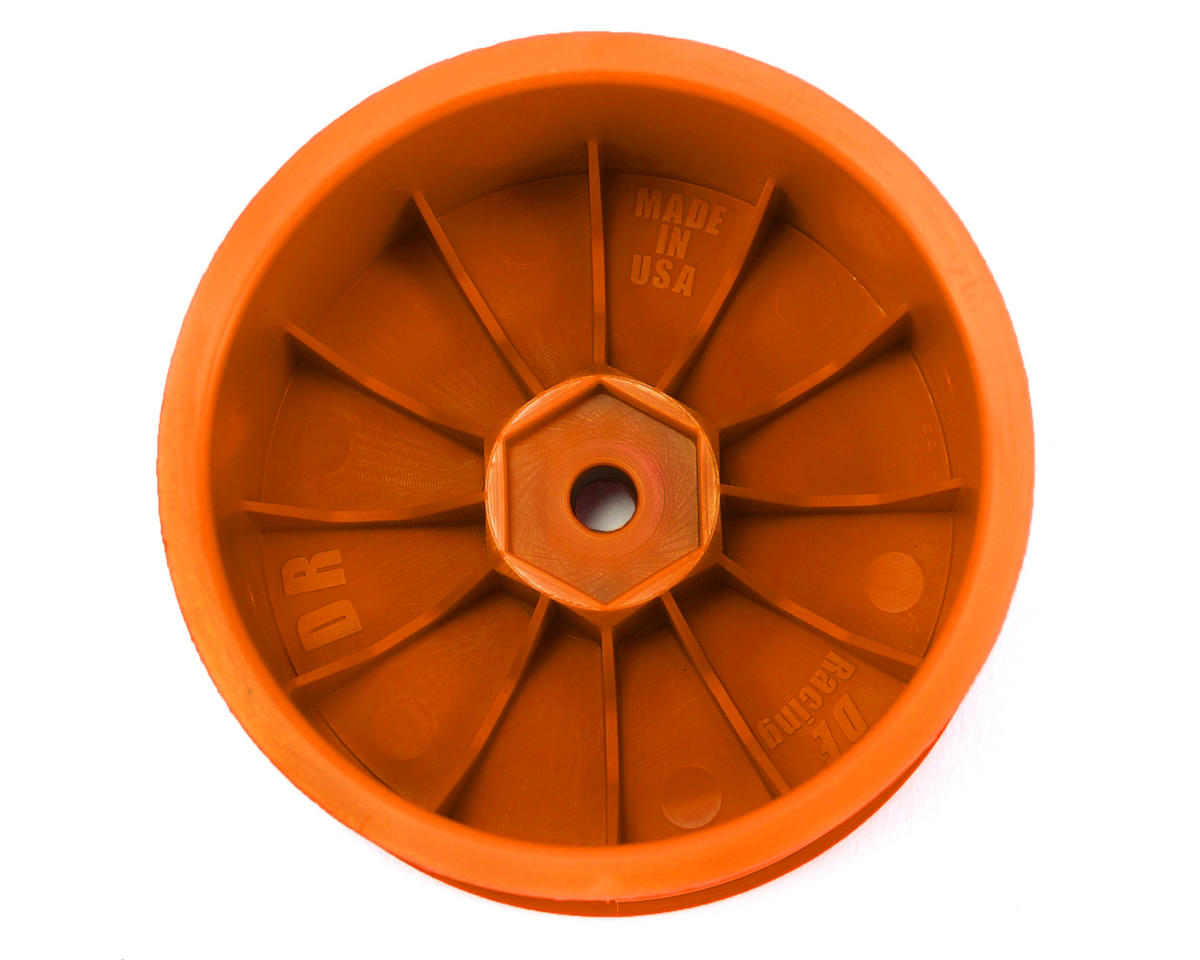 DE Racing Speedline 2.2 1/10 Buggy Rear Wheels (2) (XB4/DEX210/DEX410) (Orange)