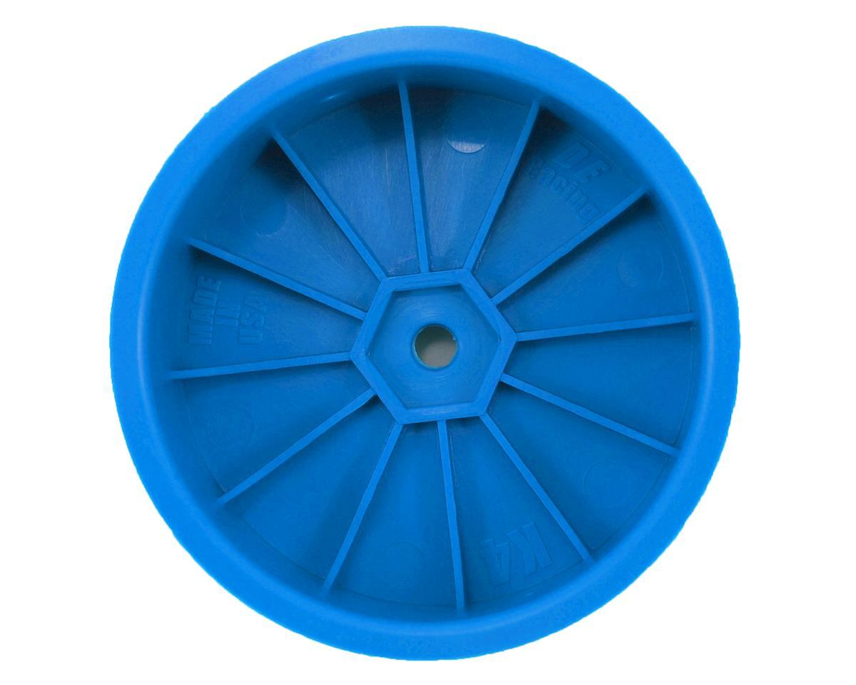 """DE Racing 12mm Hex """"Speedline"""" 2.2 4WD Front Buggy Wheels(2) (ZX6) (Blue)"""