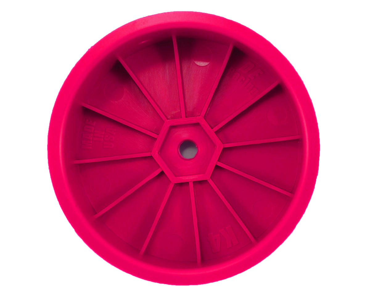 "DE Racing 12mm Hex ""Speedline"" 2.2 4WD Front Buggy Wheels(2) (ZX6) (Pink)"