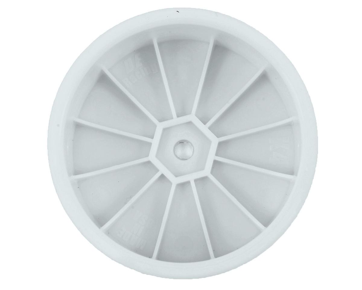 """DE Racing 12mm Hex """"Speedline"""" 2.2 4WD Front Buggy Wheels(2) (ZX6) (White)"""