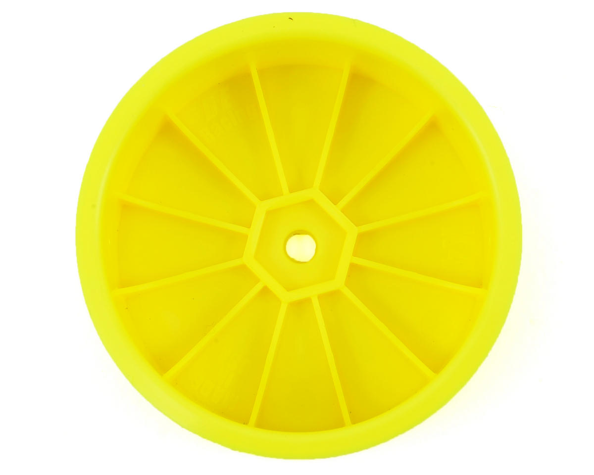 "DE Racing 12mm Hex ""Speedline"" 2.2 4WD Front Buggy Wheels(2) (ZX6) (Yellow)"