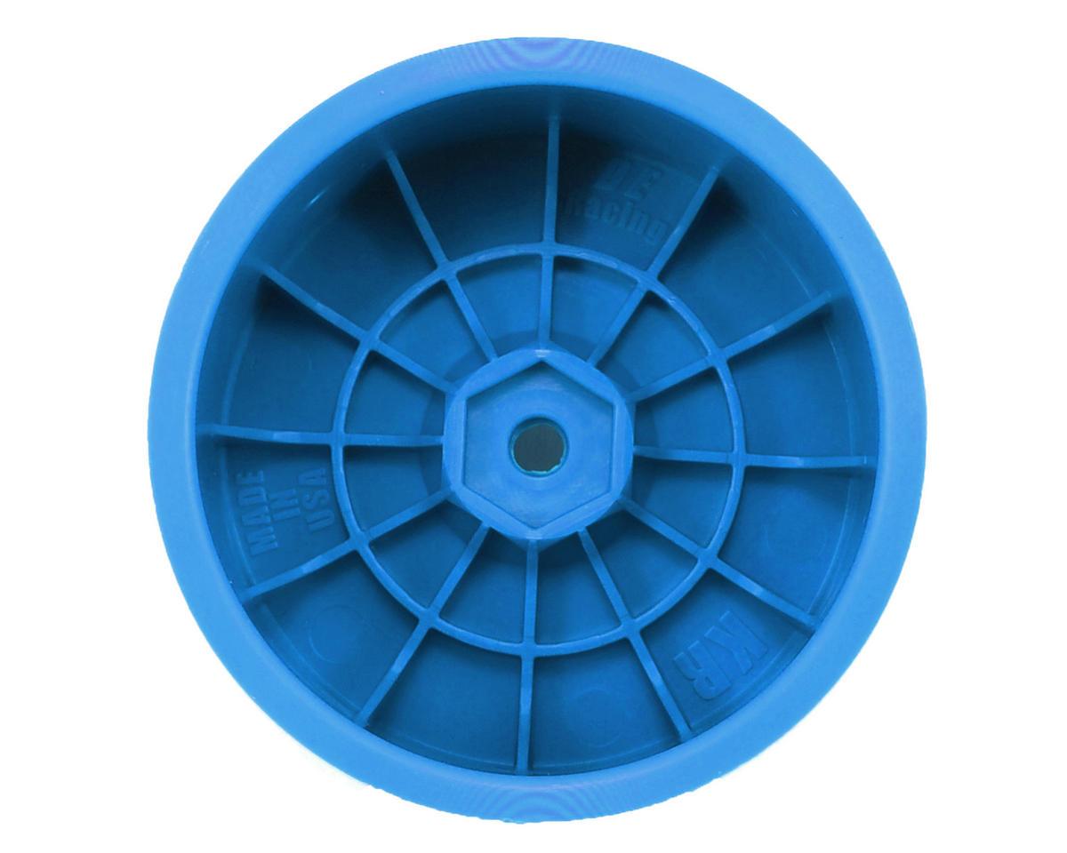 """DE Racing 12mm Hex """"Speedline"""" 2.2 1/10 Buggy Rear Wheels (2) (RB6/ZX6) (Blue)"""