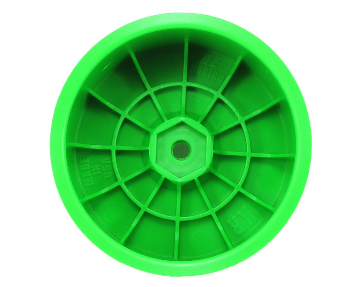 """DE Racing 12mm Hex """"Speedline"""" 2.2 1/10 Buggy Rear Wheels (2) (RB6/ZX6) (Green)"""