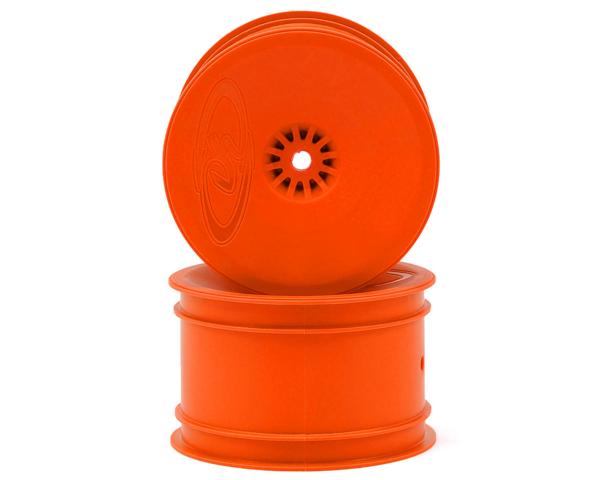 "DE Racing 12mm Hex ""Speedline"" 2.2 1/10 Buggy Rear Wheels (2) (RB6/ZX6) (Orange)"