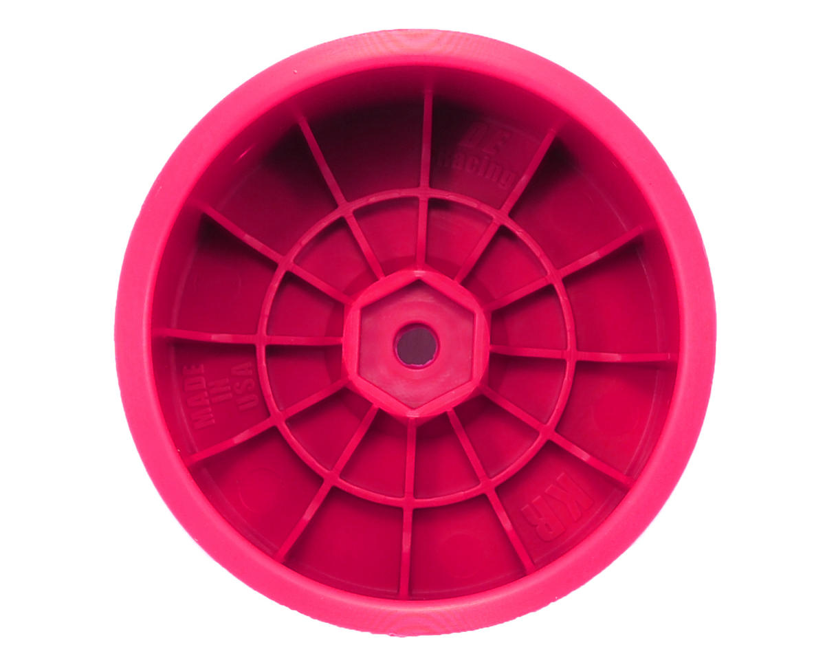 """DE Racing 12mm Hex """"Speedline"""" 2.2 1/10 Buggy Rear Wheels (2) (RB6/ZX6) (Pink)"""