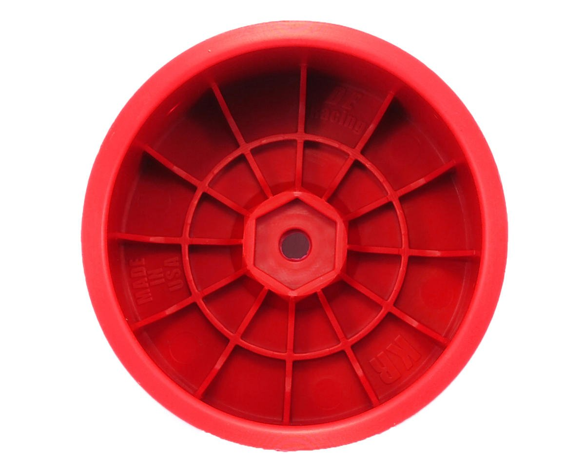"DE Racing 12mm Hex ""Speedline"" 2.2 1/10 Buggy Rear Wheels (2) (RB6/ZX6) (Red)"