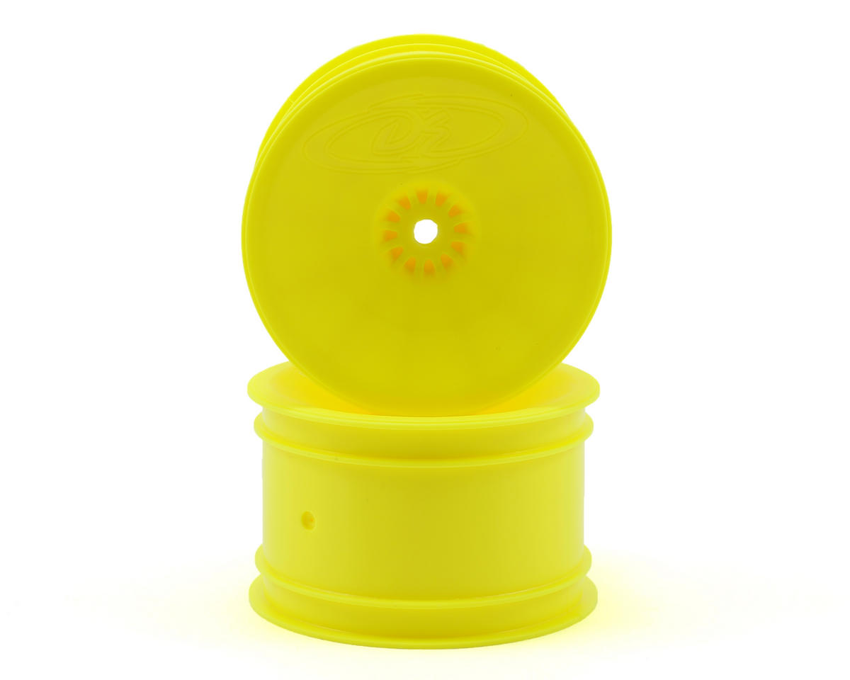 "12mm Hex ""Speedline"" 2.2 1/10 Buggy Rear Wheels (2) (RB6/ZX6) (Yellow) by DE Racing"