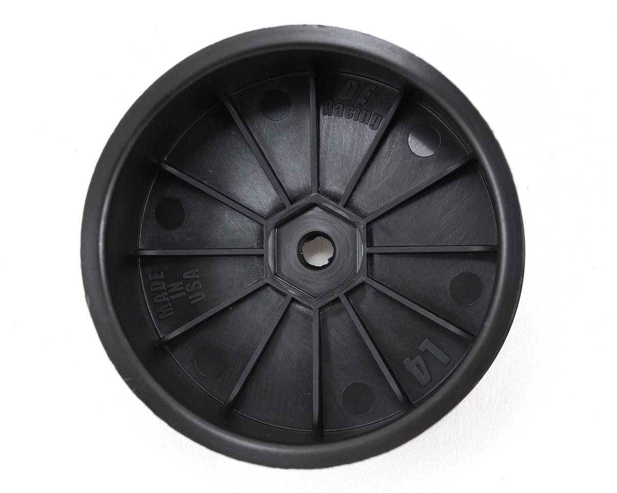 "DE Racing 12mm Hex ""Speedline"" 2.2 4WD Front Buggy Wheels (2) (22-4) (Black)"