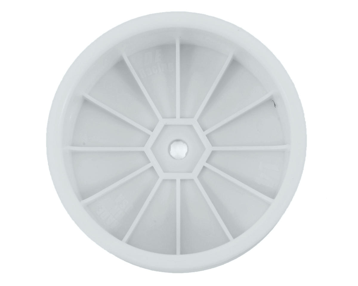 "DE Racing 12mm Hex ""Speedline"" 2.2 4WD Front Buggy Wheels (2) (22-4) (White)"