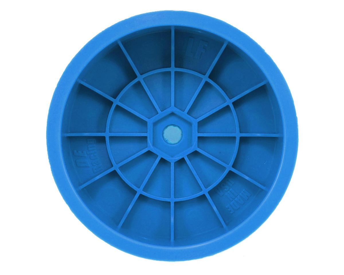 """DE Racing 10mm Hex """"Speedline"""" 2.2 1/10 Buggy Front Wheel (2) (TLR 22) (Blue)"""