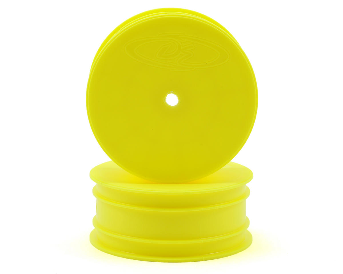"DE Racing 10mm Hex ""Speedline"" 2.2 1/10 Buggy Front Wheel (2) (TLR 22) (Yellow)"