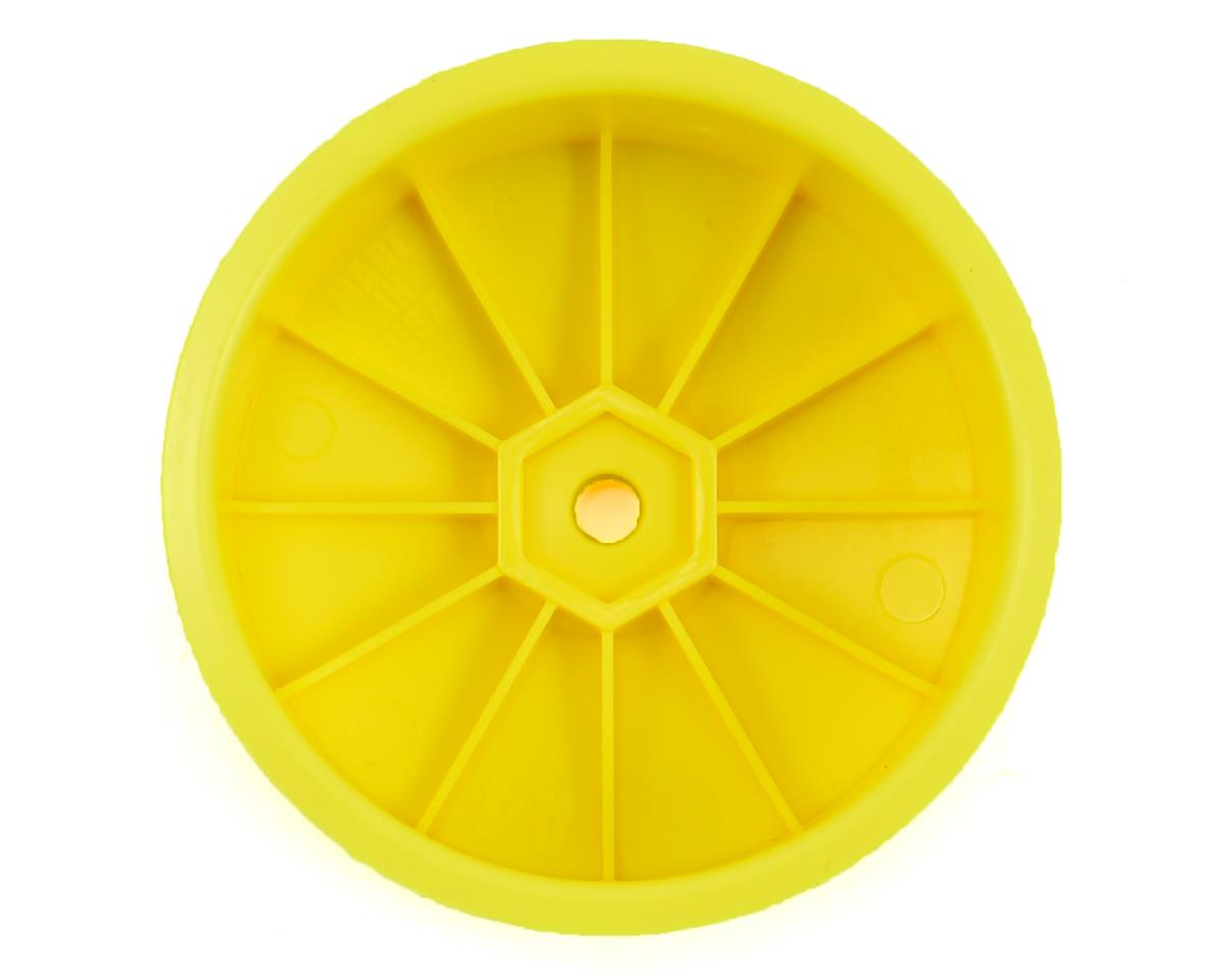 DE Racing Speedline 2.2 4WD Buggy Front Wheel (Yellow) (4) (B64)