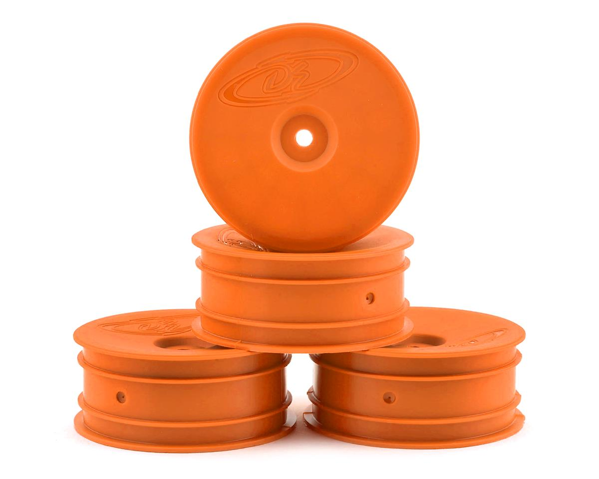 "DE Racing 12mm Hex ""Speedline"" 2.2 1/10 Buggy Front Wheels (4) (B6/RB6) (Orange) (Team Associated RC10 B4)"
