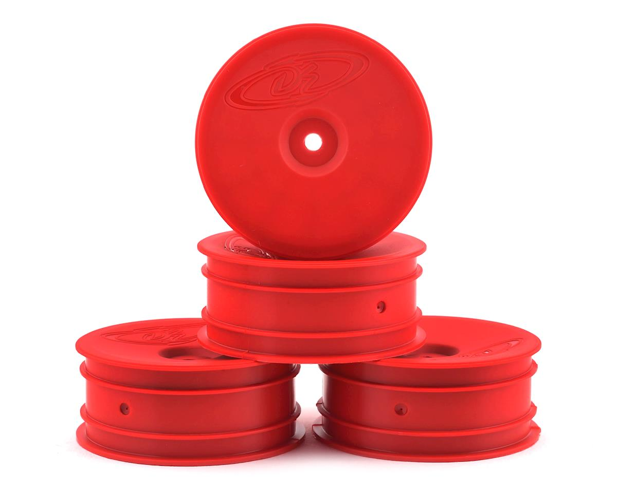 "DE Racing 12mm Hex ""Speedline"" 2.2 1/10 Buggy Front Wheels (4) (B6/RB6) (Red) (Team Associated RC10 B4)"