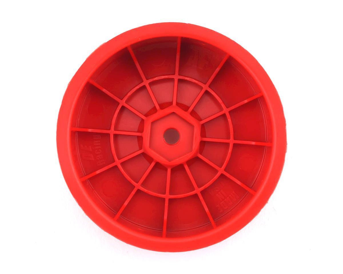 """DE Racing 12mm Hex """"Speedline"""" 2.2 1/10 Buggy Front Wheels (4) (B6/RB6) (Red)"""