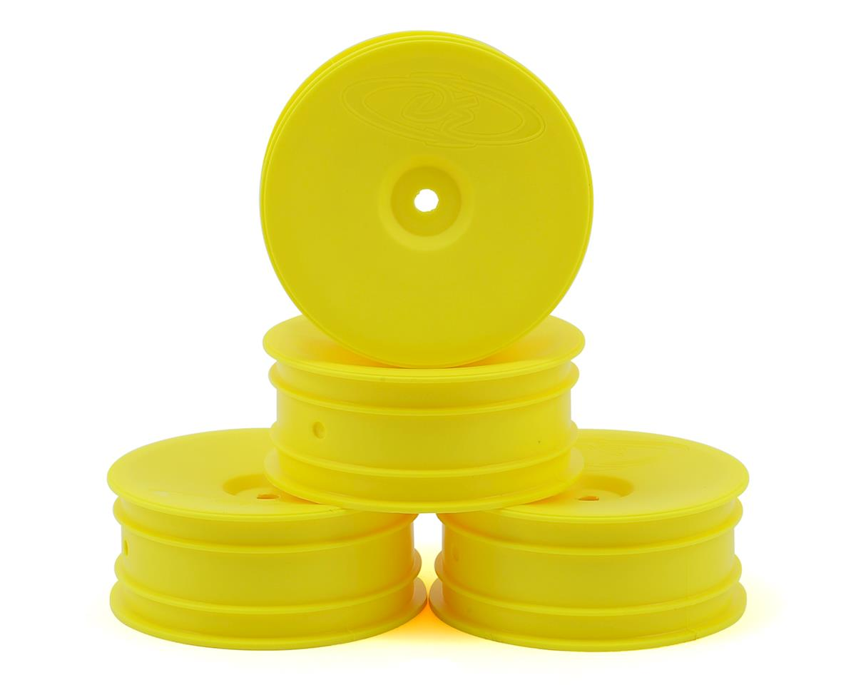 "12mm Hex ""Speedline"" 2.2 1/10 Buggy Front Wheels (4) (B6/RB6) (Yellow) by DE Racing"
