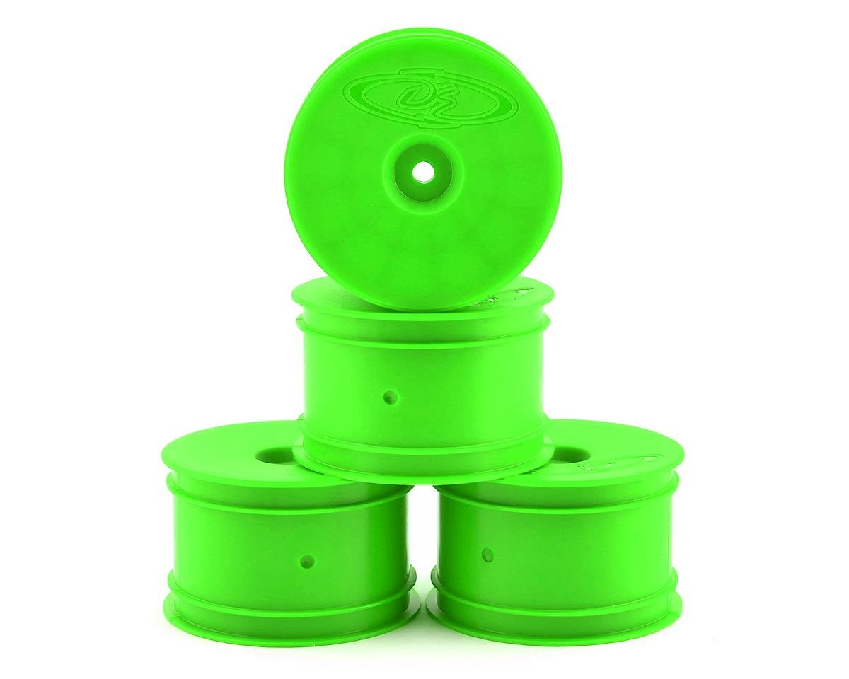 DE Racing Speedline 2.2 1/10 Buggy Rear Wheels (4) (B6/B74/22/Losi 22-4) (Green)