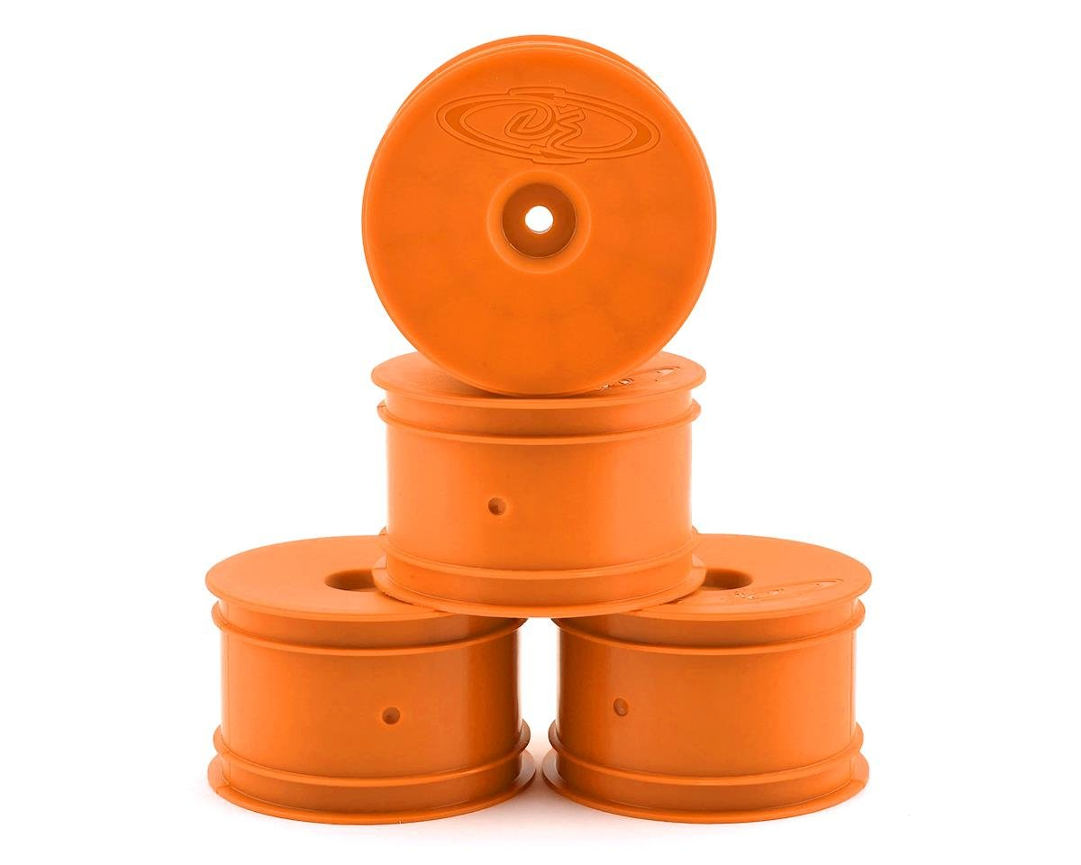 DE Racing Speedline 2.2 1/10 Buggy Rear Wheels (4) (B6/B74/22/22-4) (Orange) (Team Associated RC10 B44.1)