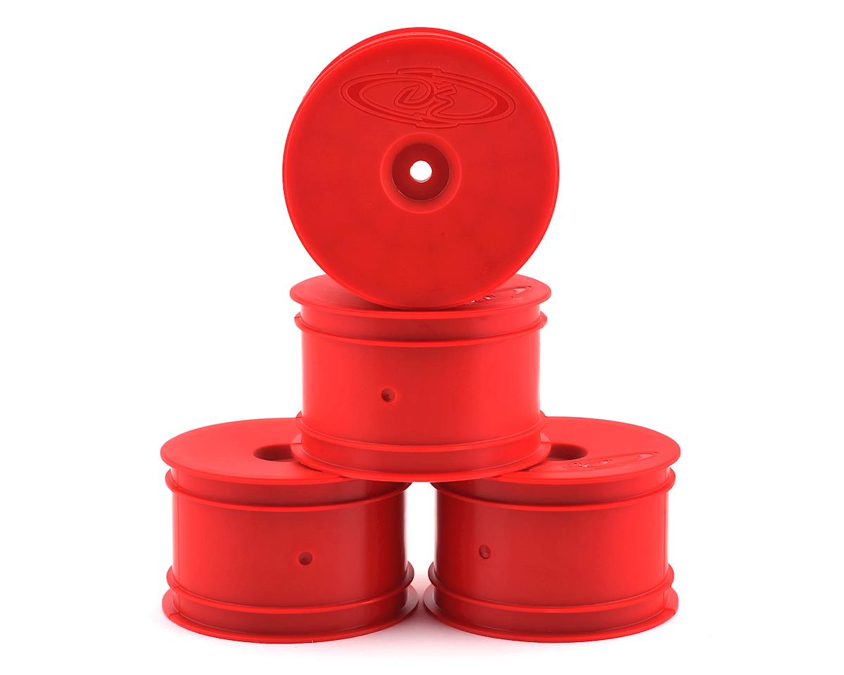 DE Racing Speedline 2.2 1/10 Buggy Rear Wheels (4) (B6/B64/22/22-4) (Red)