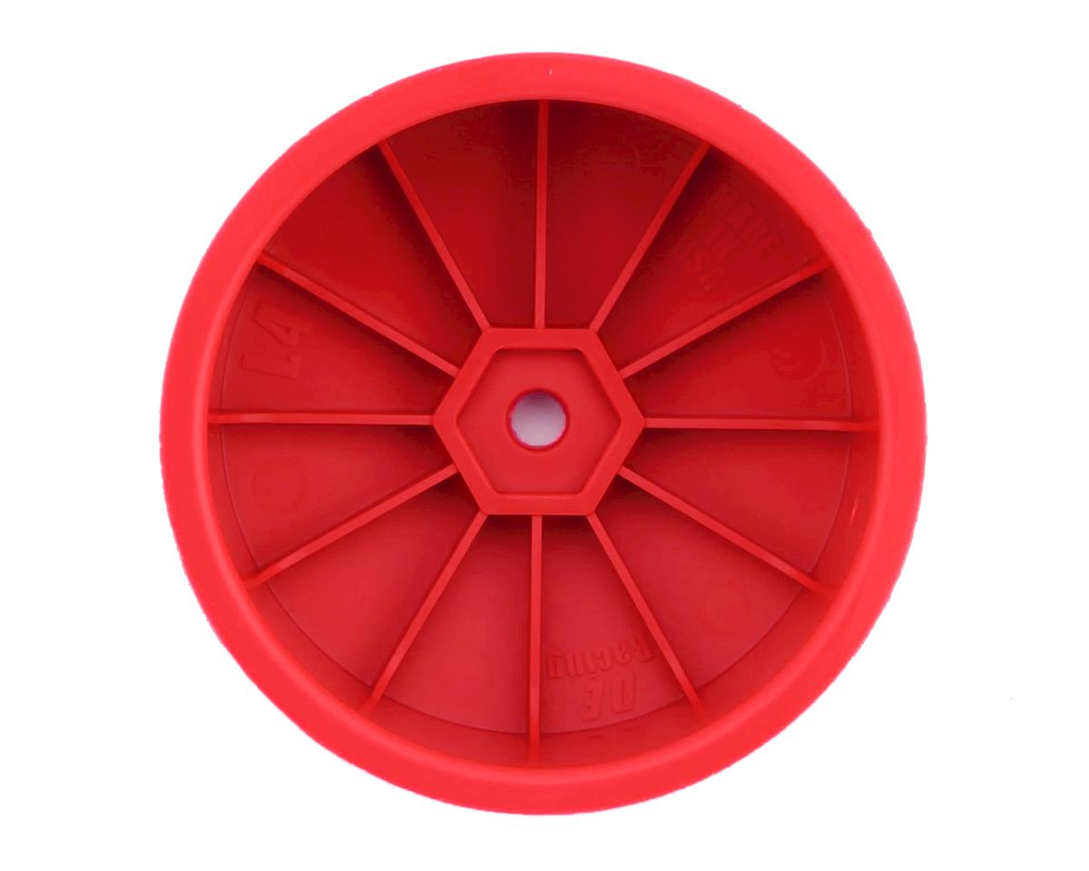 DE Racing Speedline 2.2 4WD Buggy Front Wheel (4) (Red) (22-4/EB410)