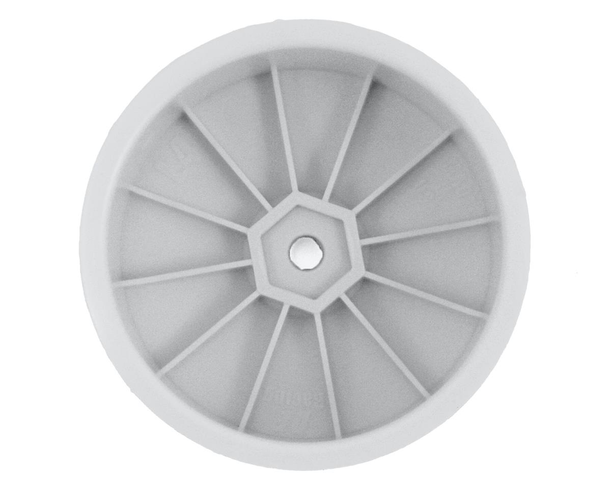 DE Racing Speedline 2.2 4WD Buggy Front Wheel (4) (White) (22-4/EB410)