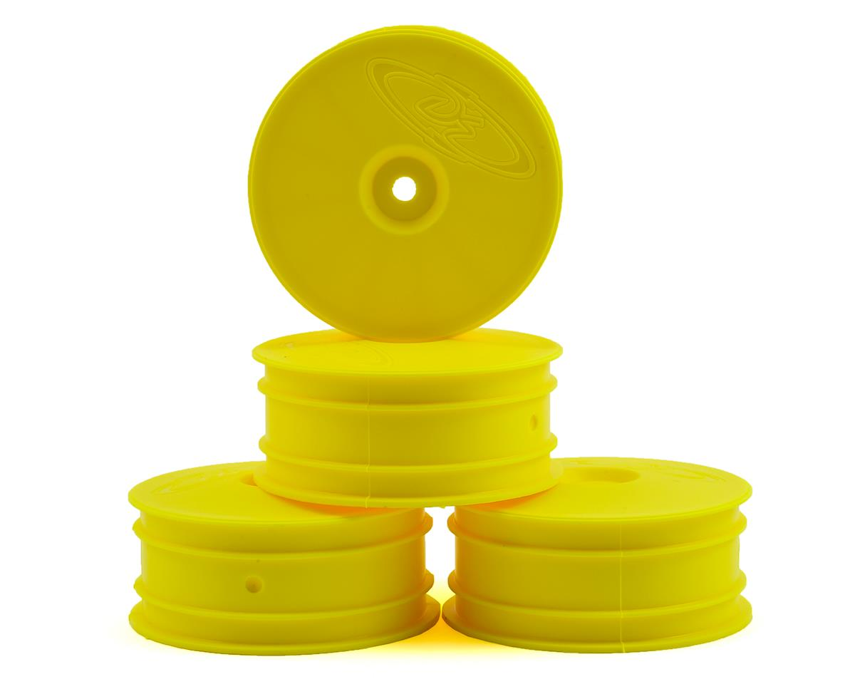 DE Racing Speedline 2.2 4WD Buggy Front Wheel (4) (Yellow) (22-4/EB410)