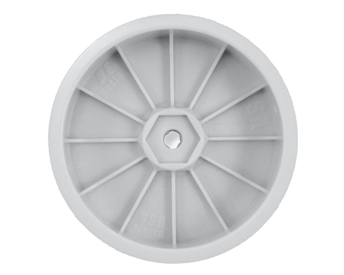 DE Racing Speedline Slim 2.2 2WD Buggy Front Wheel (White) (4) (B6/RB6)
