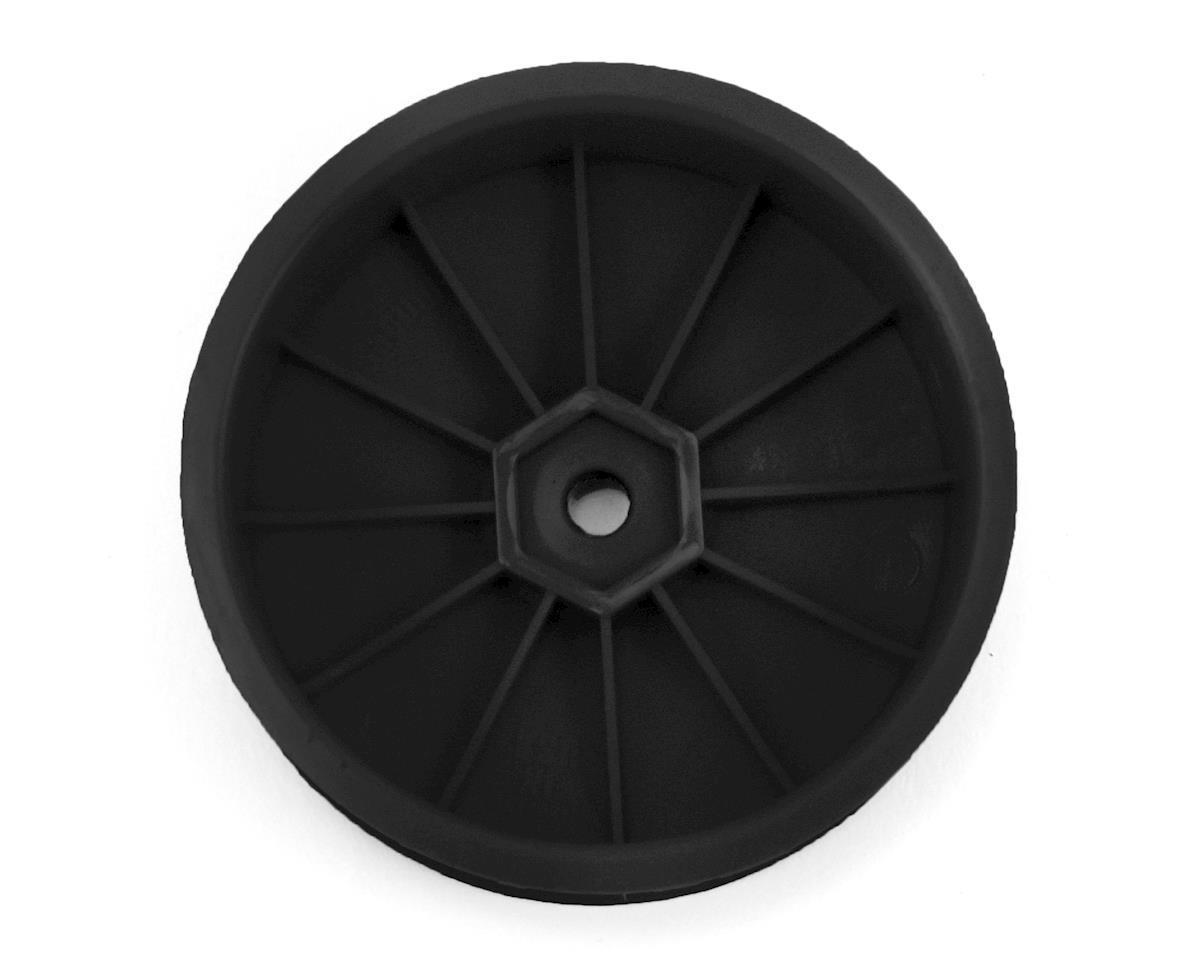 DE Racing Speedline Slim 2.2 2WD Buggy Front Wheel (Black) (4) (22 4.0)