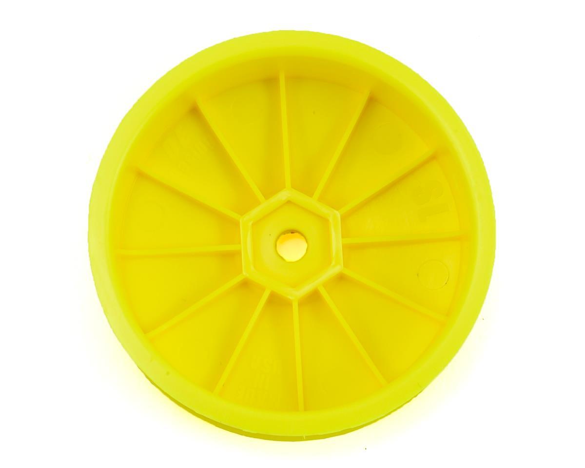 DE Racing Speedline Slim 2.2 2WD Buggy Front Wheel (Yellow) (4) (22 4.0)
