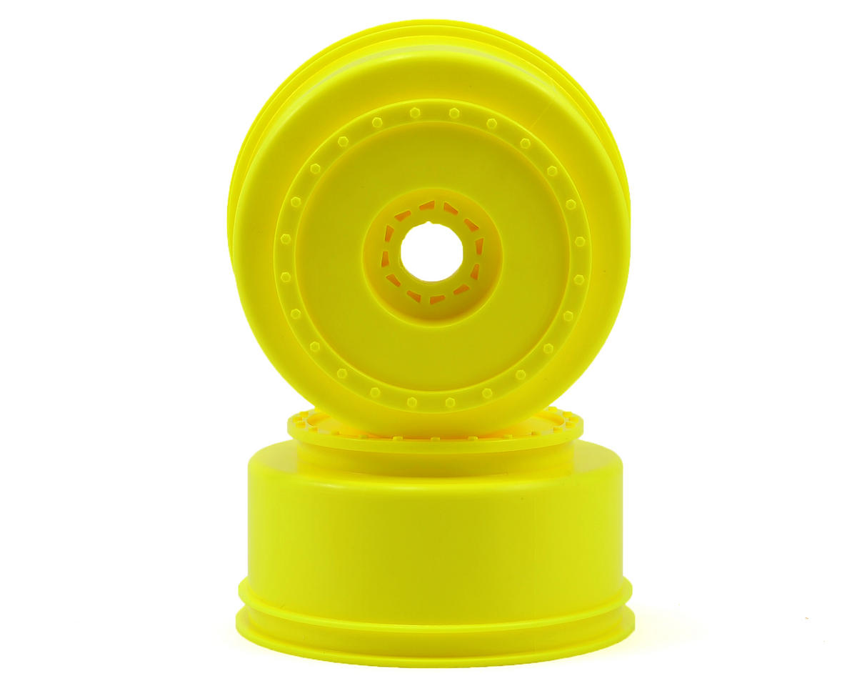 "DE Racing 17mm Hex ""Borrego"" Short Course Wheels (Yellow) (2) (SC8)"