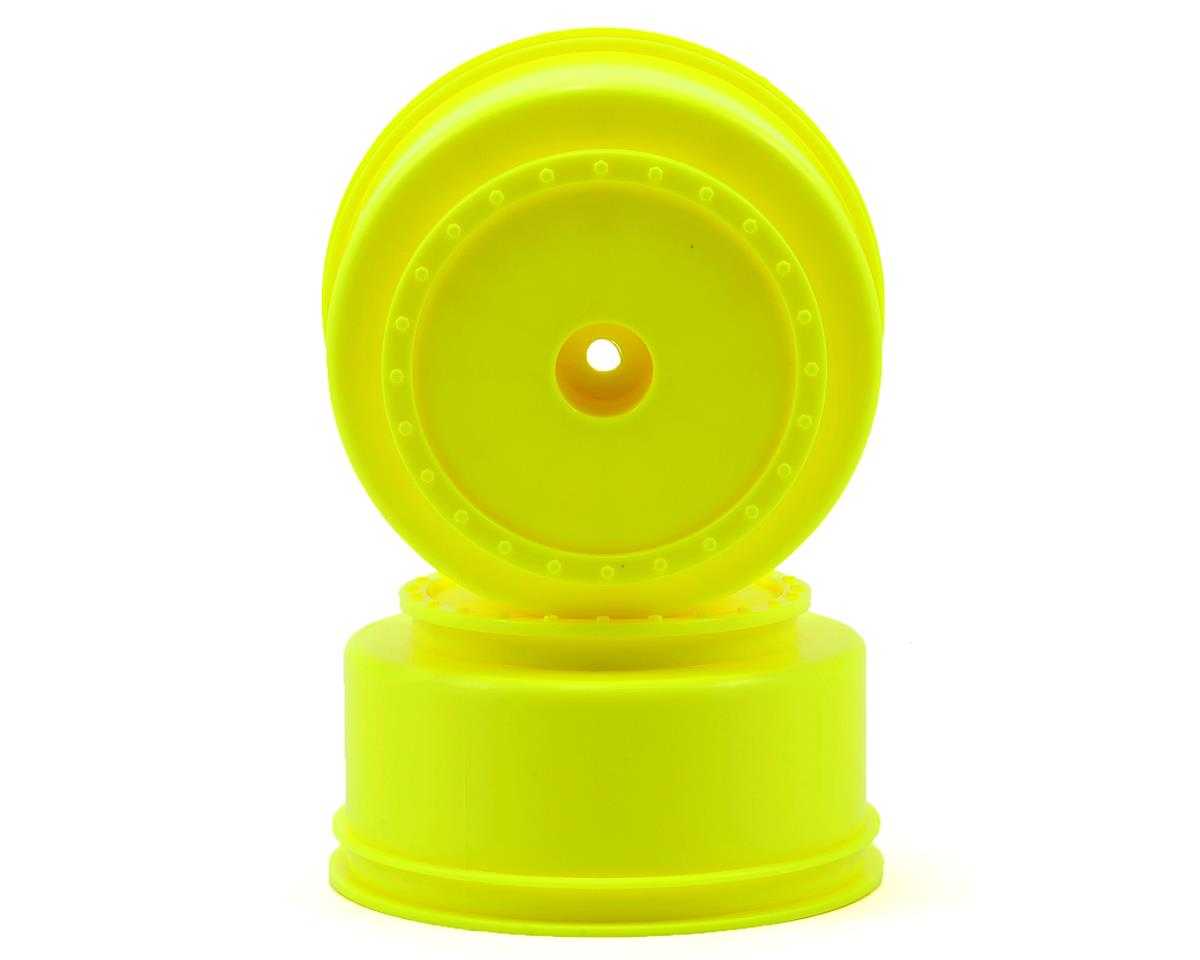 DE Racing Borrego Short Course Wheels w/3mm Offset (Yellow) (2) (SC5M) (Team Associated SC10 4x4)