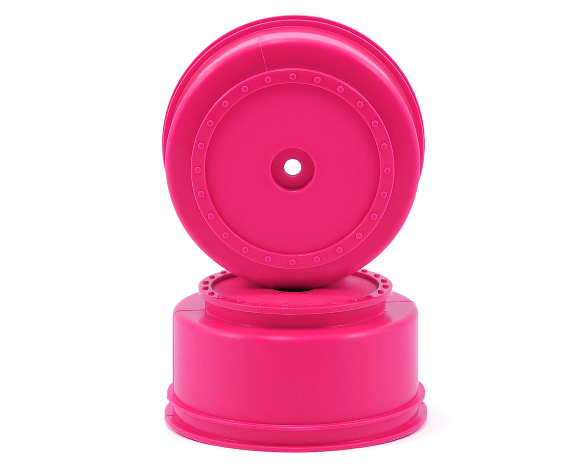 DE Racing Borrego Short Course Wheels w/2.5mm Offset (Pink) (2) (DESC210/410)