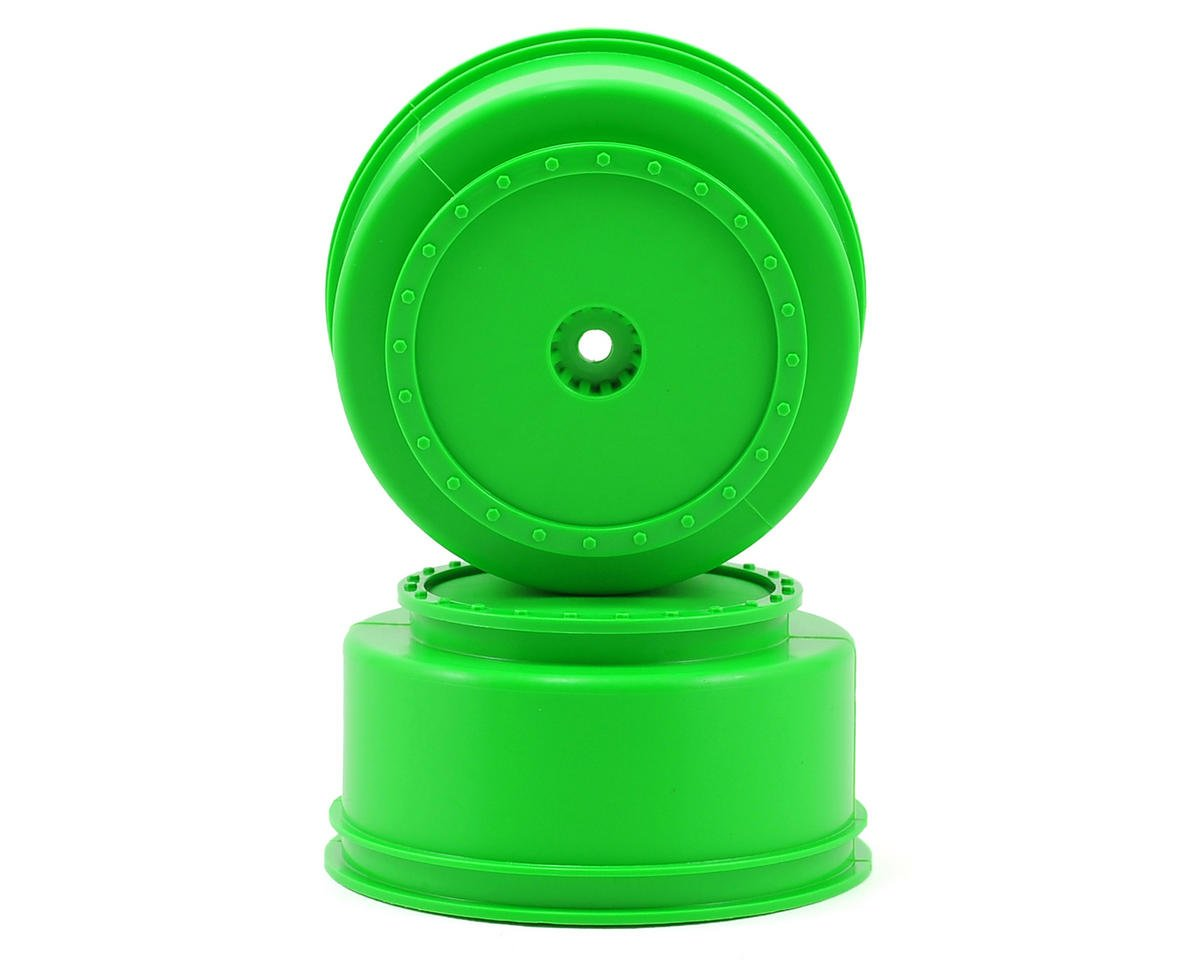 "DE Racing 12mm Hex ""Borrego"" Short Course Wheels (Green) (2) (22SCT/TEN-SCTE)"