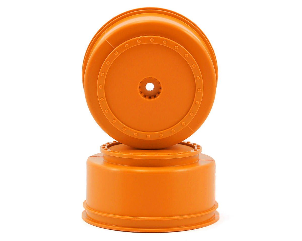 "DE Racing 12mm Hex ""Borrego"" Short Course Wheels (Orange) (2) (22SCT/TEN-SCTE)"