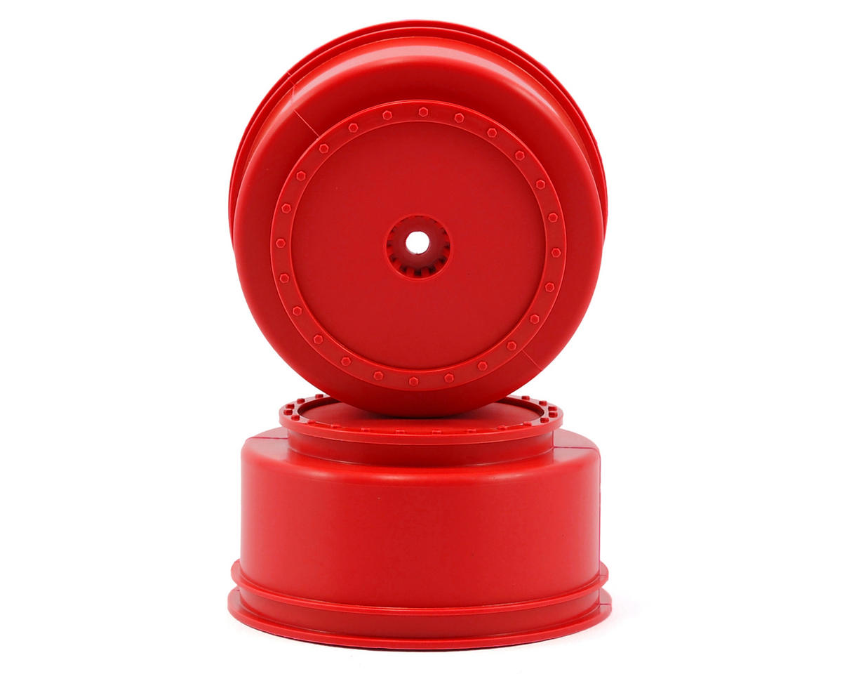 """DE Racing 12mm Hex """"Borrego"""" Short Course Wheels (Red) (2) (22SCT/TEN-SCTE)"""