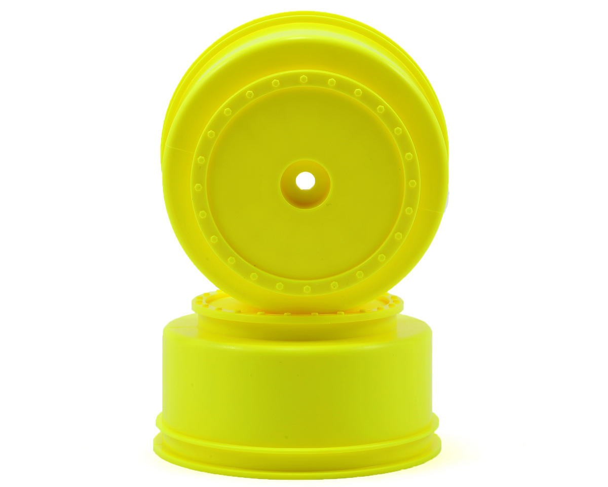 "DE Racing 12mm Hex ""Borrego"" Short Course Wheels (Yellow) (2) (22SCT/TEN-SCTE)"