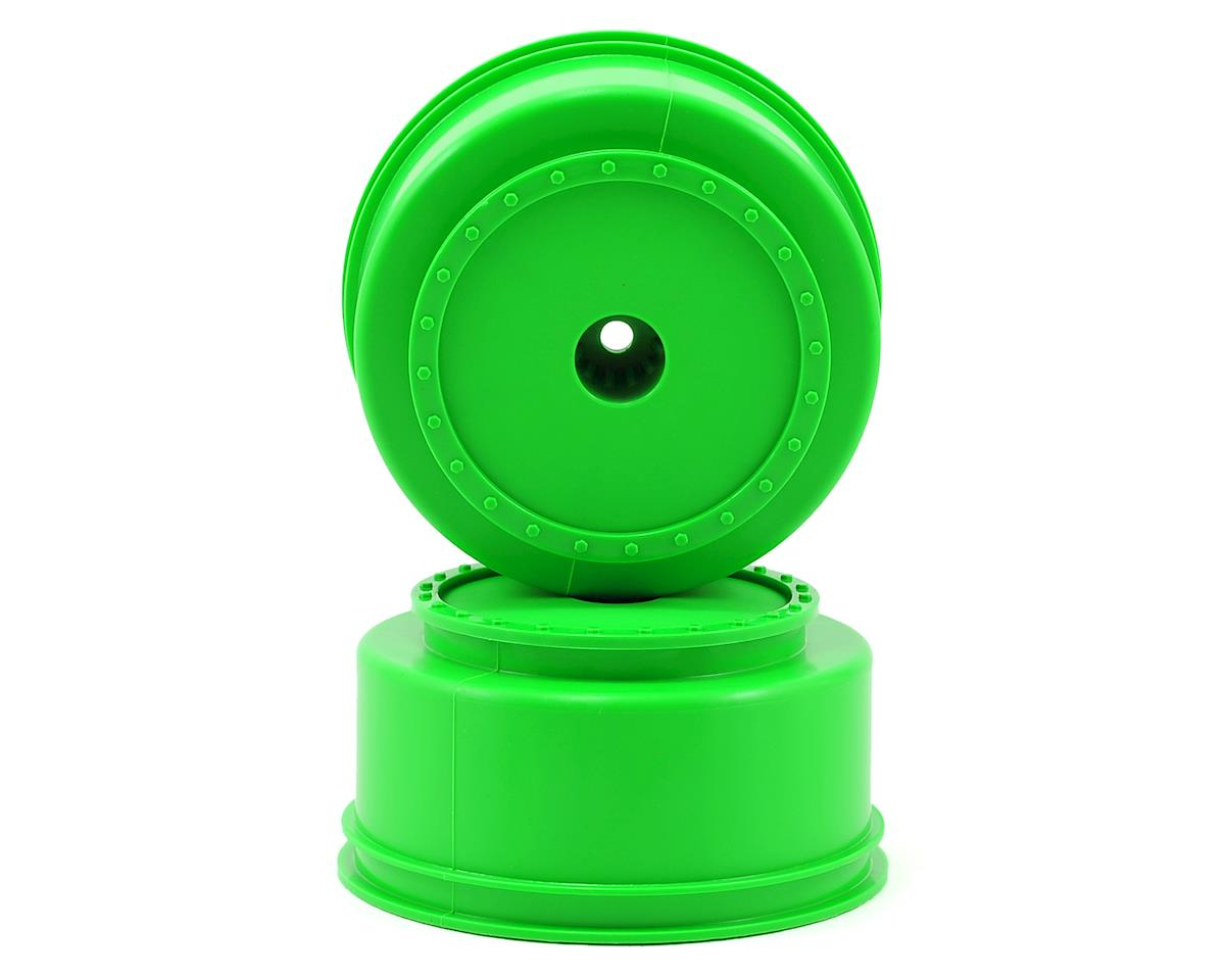 """DE Racing 12mm Hex """"Borrego"""" Short Course Wheels (Green) (2) (SC6/Slash/Blitz)"""