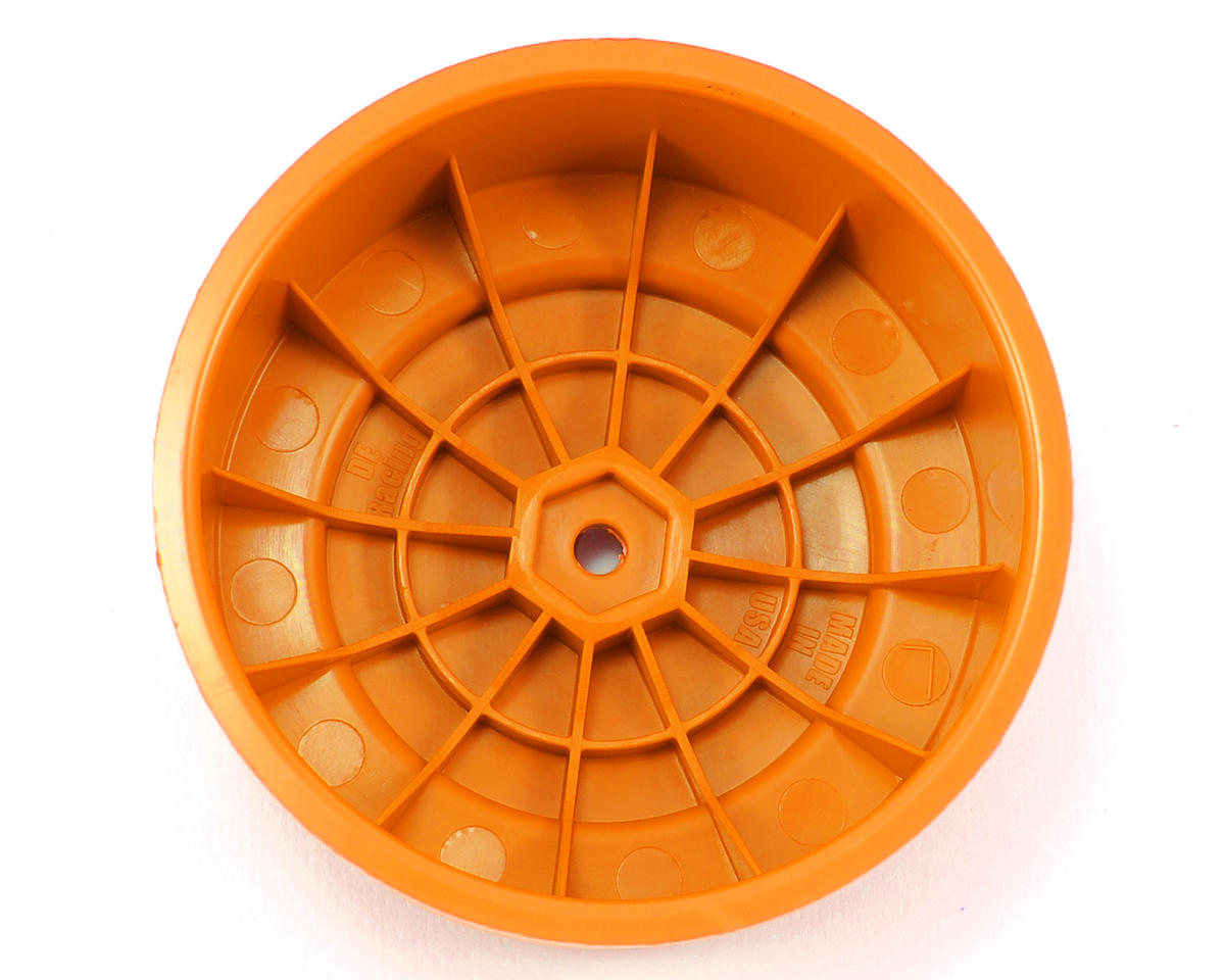 "DE Racing 12mm Hex ""Borrego"" Short Course Wheels (Orange) (2) (SC6/Slash/Blitz)"