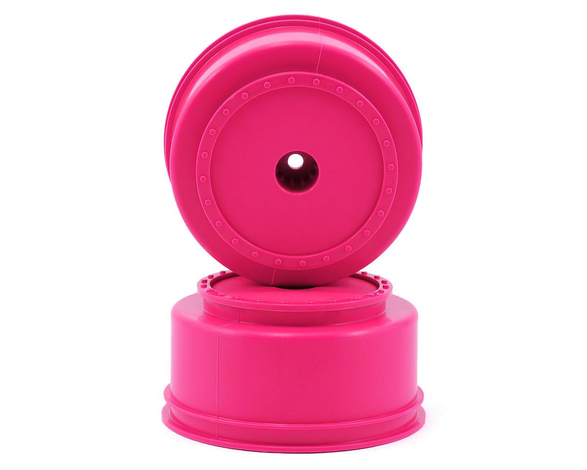 """DE Racing 12mm Hex """"Borrego"""" Short Course Wheels (Pink) (2) (SC6/Slash/Blitz)"""