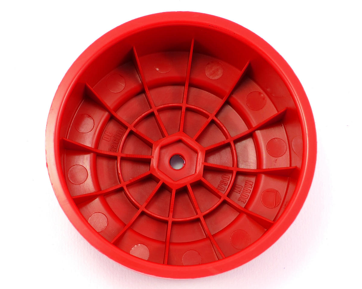 "DE Racing 12mm Hex ""Borrego"" Short Course Wheels (Red) (2) (SC6/Slash/Blitz)"