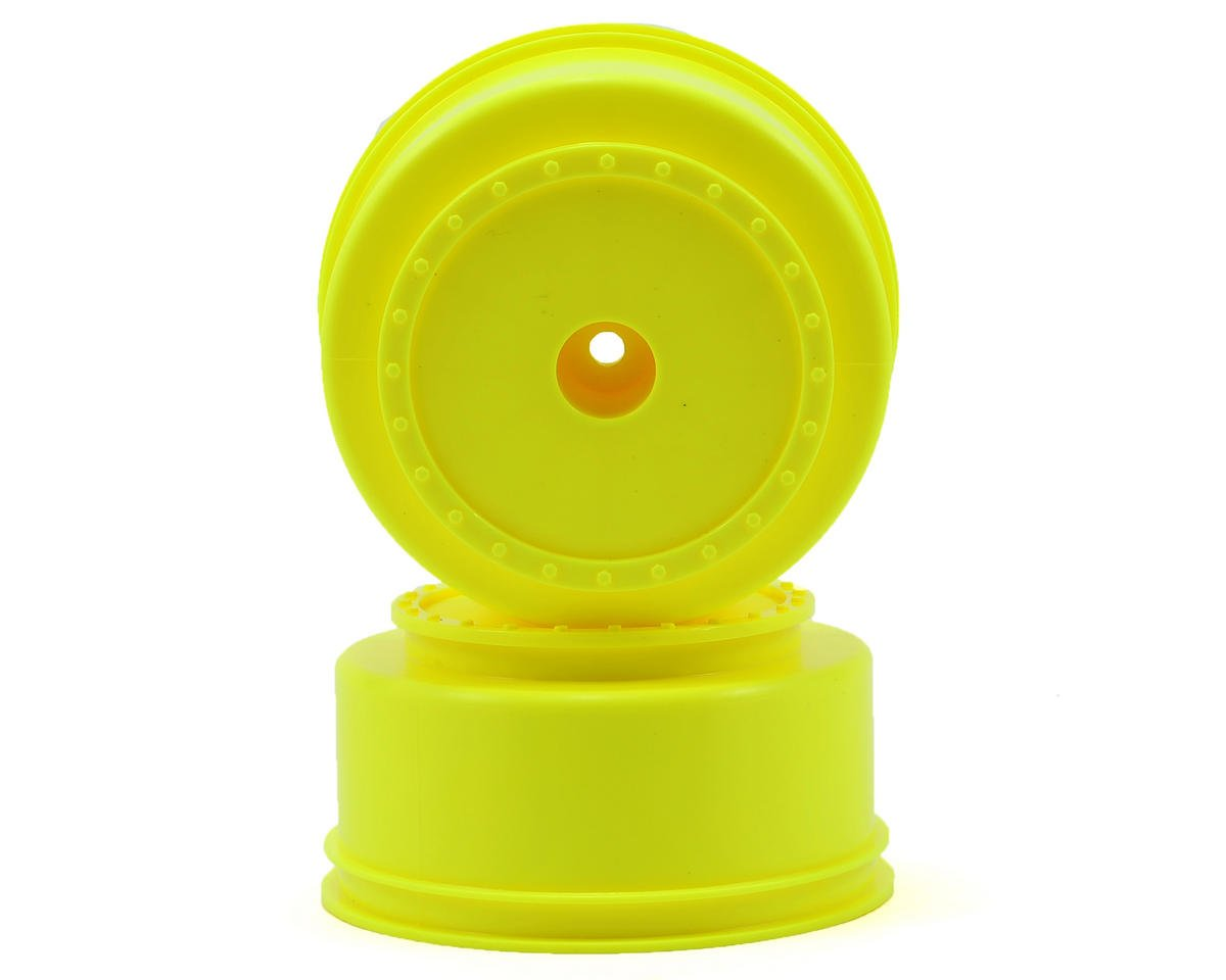 "12mm Hex ""Borrego"" Short Course Wheels (Yellow) (2) (SC6/Slash/Blitz) by DE Racing"