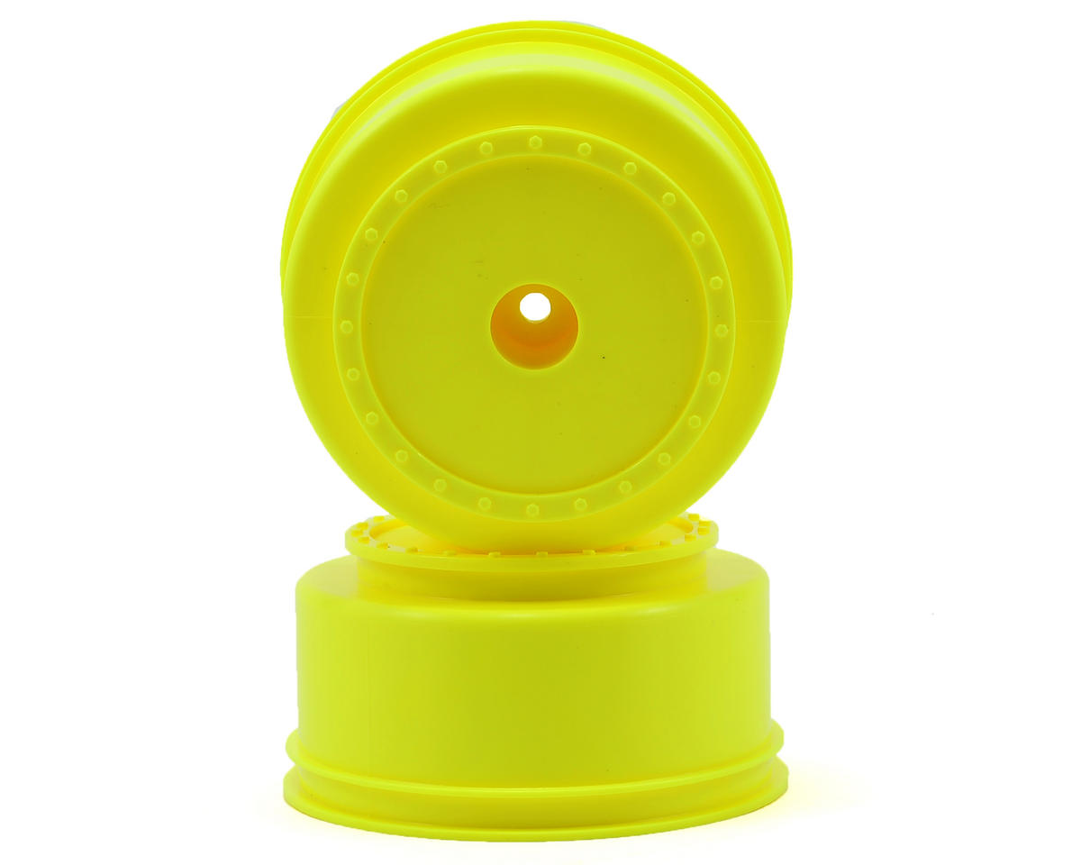 "DE Racing 12mm Hex ""Borrego"" Short Course Wheels (Yellow) (2) (SC6/Slash/Blitz)"
