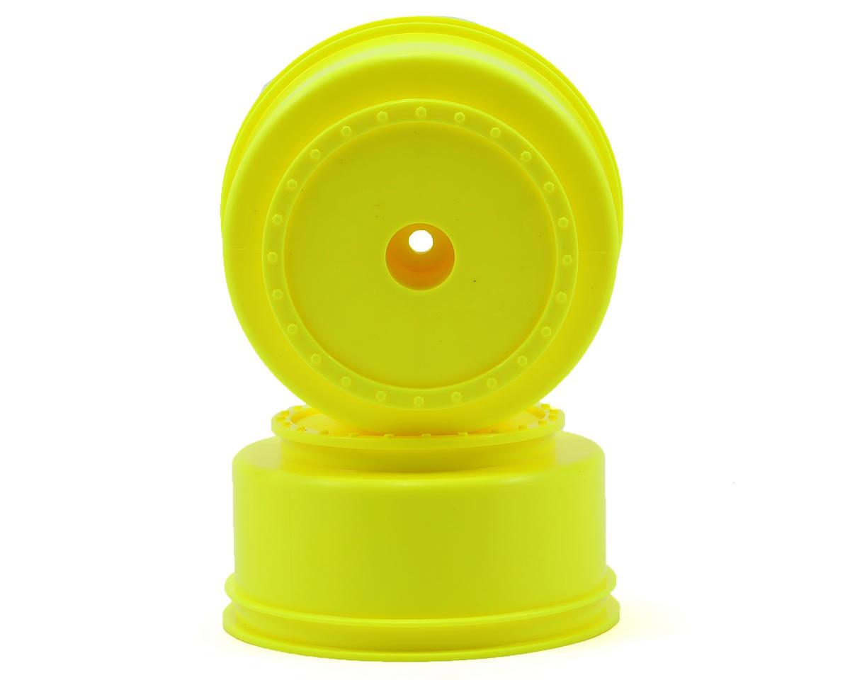 """DE Racing 12mm Hex """"Borrego"""" Short Course Wheels (Yellow) (2) (SC6/Slash/Blitz)"""