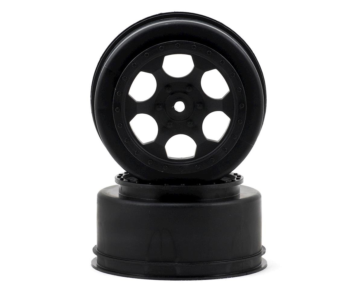 "DE Racing 12mm Hex ""Trinidad"" Short Course Wheels (Black) (2) (22SCT/TEN-SCTE)"