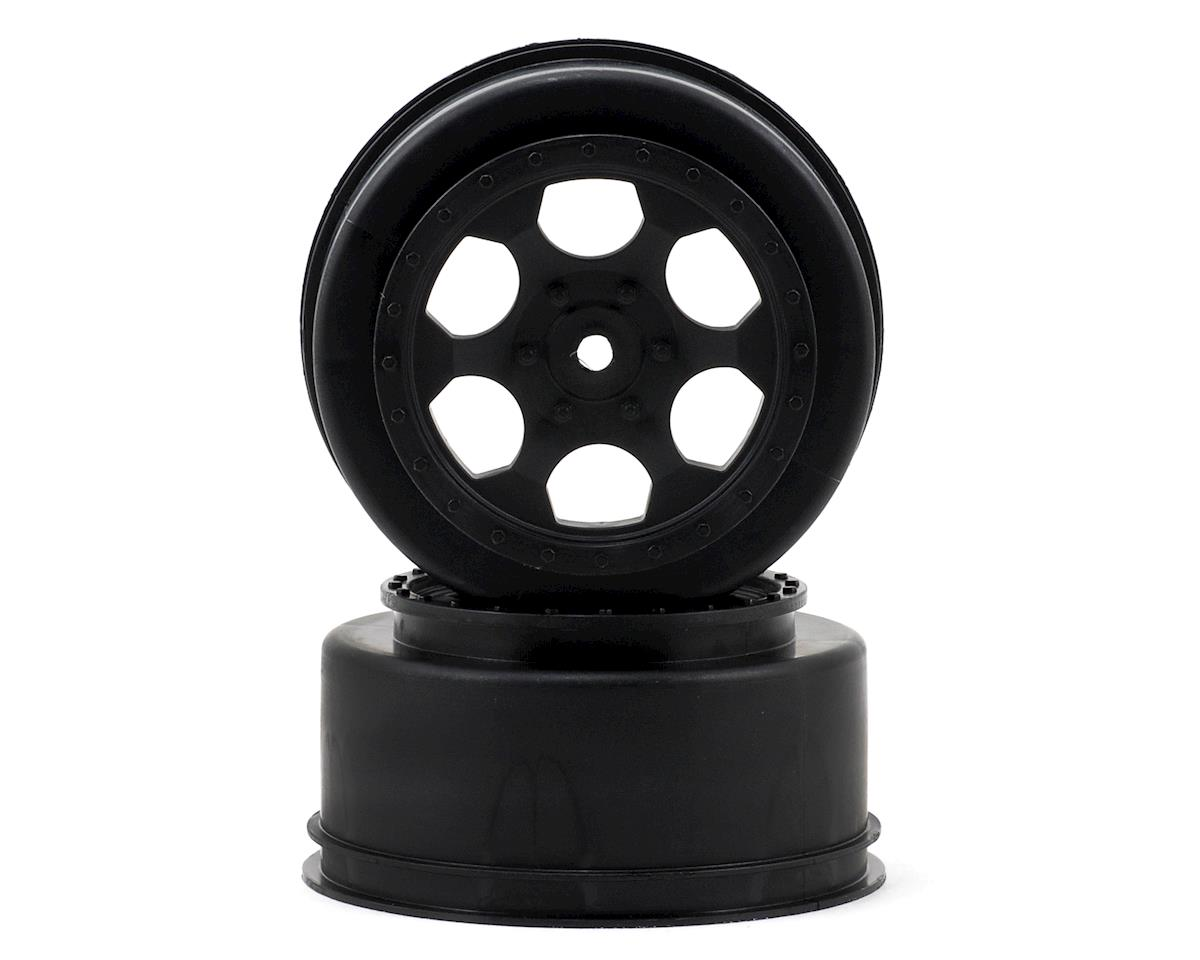 "DE Racing 12mm Hex ""Trinidad"" Short Course Wheels (Black) (2) (22SCT/TEN-SCTE) (Losi TEN-SCT Nitro)"
