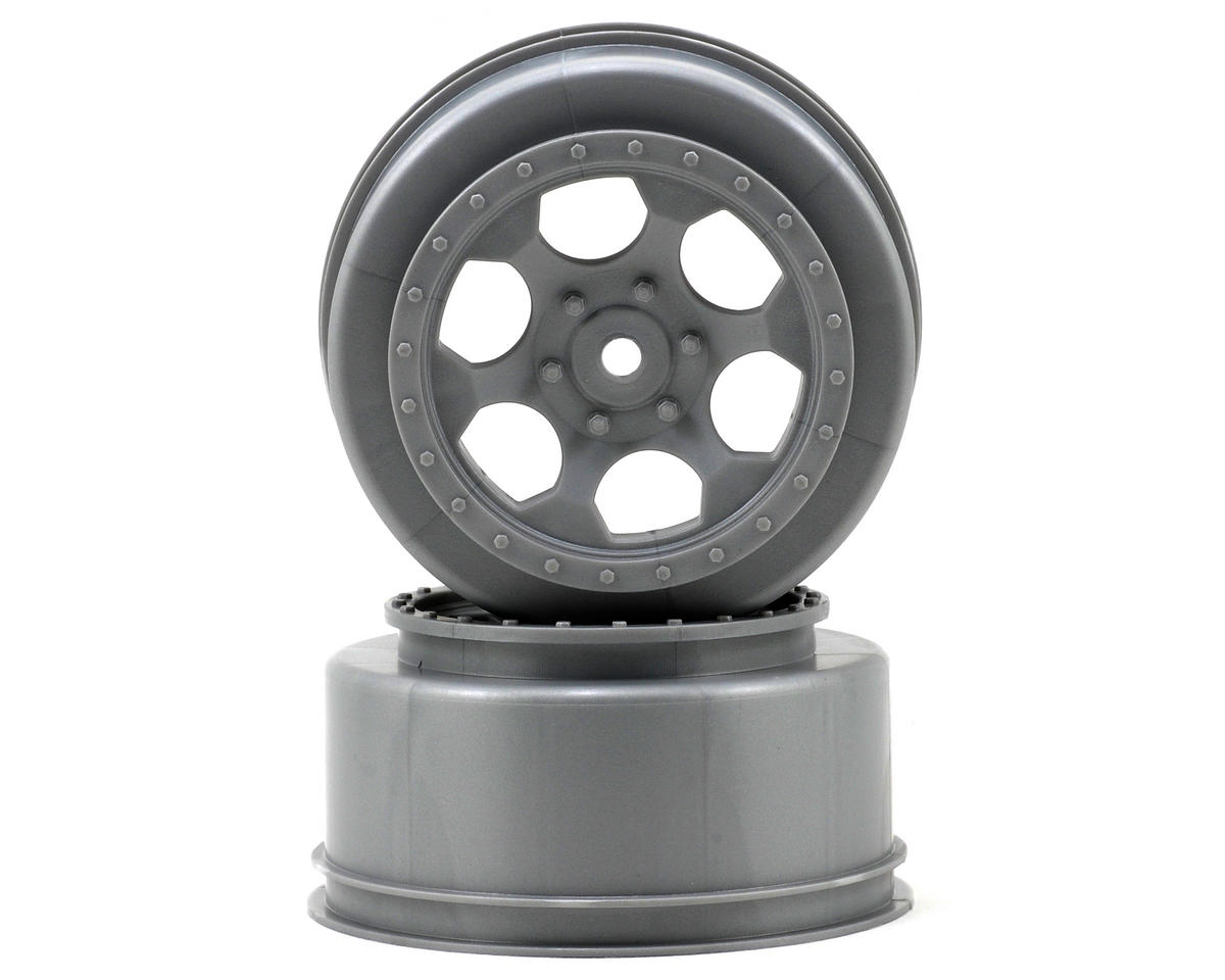 "DE Racing 12mm Hex ""Trinidad"" Short Course Wheels (Silver) (2) (22SCT/TEN-SCTE)"