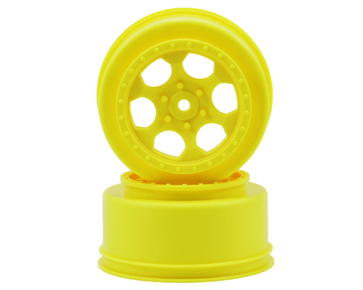 "DE Racing 12mm Hex ""Trinidad"" Short Course Wheels (Yellow) (2) (22SCT/TEN-SCTE)"