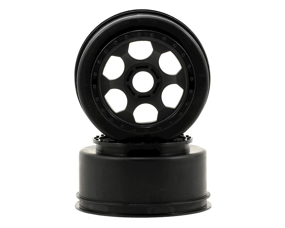 "DE Racing 17mm Hex ""Trinidad"" Short Course Wheels (Black) (2) (SC8) (Team Associated SC8.2e)"