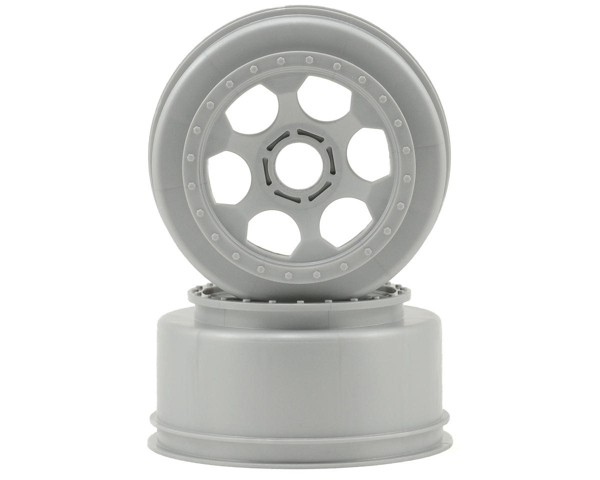 "DE Racing 17mm Hex ""Trinidad"" Short Course Wheels (Silver) (2) (SC8)"