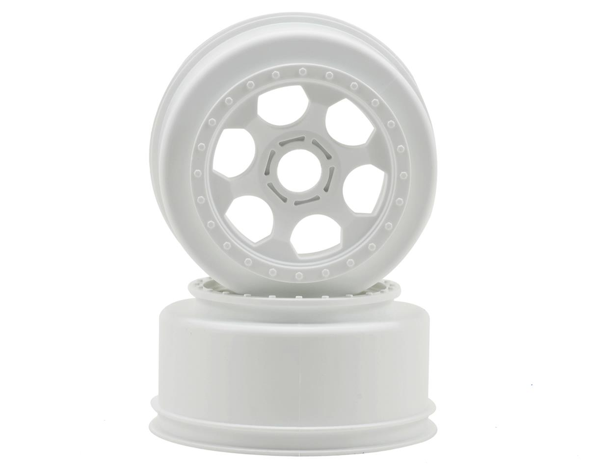 "DE Racing 17mm Hex ""Trinidad"" Short Course Wheels (White) (2) (SC8)"